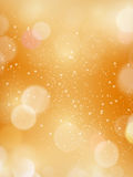 Abstract bokeh blurry light dot autumn, fall, festive background. Golden blurred background with defocused light dots. Bokeh background. Great for festive or stock illustration