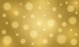 Golden blurred golden bokeh background Royalty Free Stock Photo