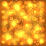 Golden blurry background Royalty Free Stock Photos