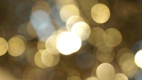 Golden blurs bokeh. Abstract shine stock video