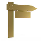 Golden board Royalty Free Stock Photo