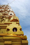 Golden Bodh Gaya in Sangkhlaburi Royalty Free Stock Images