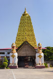 Golden Bodh Gaya. Thai golden Bodh Gaya in Sangkhlaburi, Thailand Royalty Free Stock Photo