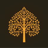 Golden Bodhi tree symbol, illustration Royalty Free Stock Photography