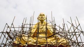 Golden Bodhisattva Kru Ba Sri Vi Chai construction Royalty Free Stock Images