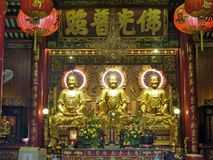 Golden Bodhisattva Pavillion  the holy Chinese goddess Royalty Free Stock Images