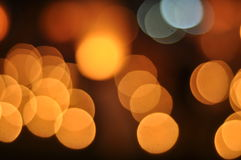 Golden bokeh background Royalty Free Stock Images