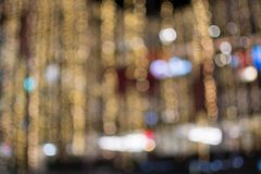 Golden of bokeh background. Kight royalty free stock photo