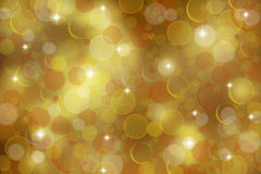 Golden bokeh background Royalty Free Stock Photography