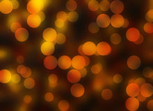 Golden Bokeh backgrounds. Warm Round Shapes in Chaotic Arrangement. Bokeh backgrounds Royalty Free Stock Photography