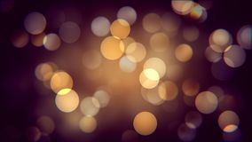 Golden bokeh effect of autumn night. Warm blurred sparcles background effect.