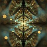 Golden Bokeh Elliptic Split fractal royalty free illustration