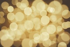 Golden bokeh. Abstract on background Stock Photography