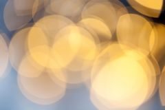 Bokeh holiday background. Golden bokeh holiday background Royalty Free Stock Photography