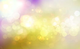 Golden bokeh lights. Abstract background with golden bokeh lights design Royalty Free Stock Images