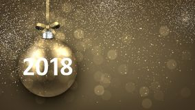 Golden shining 2018 New Year background. Royalty Free Stock Image