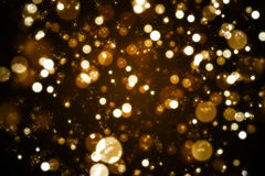 Golden Bokeh. Romantic Background for your website,advertisement,portfolio and several events Royalty Free Stock Image