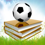 Golden Book About Soccer Royalty Free Stock Images