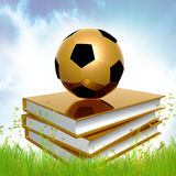 Golden Book About Soccer Stock Photo