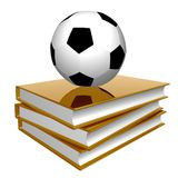 Golden book about soccer Royalty Free Stock Photography