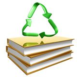 Golden books about recycle Stock Photography