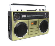 The Golden Boombox Royalty Free Stock Photos