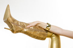 Golden boot Stock Photography