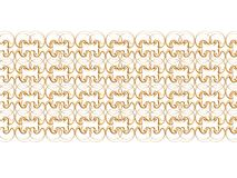 Golden border 2. Golden retro border isolated on the white, illustration made on computer Stock Photo