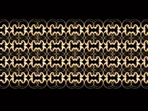 Golden border. Golden retro net isolated on the black, illustration made on computer Stock Image