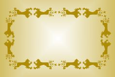 Golden borders from heraldic wolves Royalty Free Stock Image