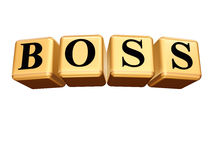 Golden boss isolated Royalty Free Stock Image