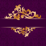Golden Bough. The golden bough of floral ornament on a purple background royalty free illustration