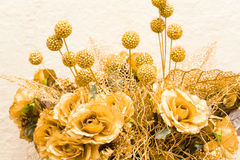 Golden bouquet Stock Photos