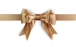 Golden bow Royalty Free Stock Photo