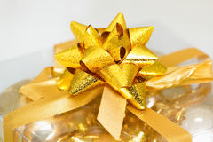 Golden bow Royalty Free Stock Photos