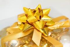Golden bow Royalty Free Stock Photos