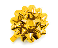 Golden bow. Isolated on white background Stock Image