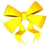Golden bow 3d Stock Photo