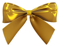 Golden bow 3d render Stock Image