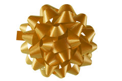 Golden bow Royalty Free Stock Photography