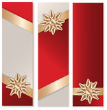 Golden Bow Banner Set Royalty Free Stock Photo