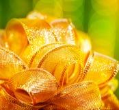 Golden bow border Stock Image