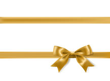 Golden bow decoration Stock Photography