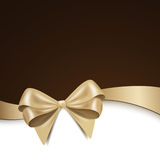 Golden bow Stock Photography