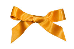 Golden bow,isolated Stock Photos