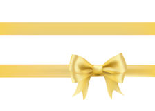 Golden bow knot on white Royalty Free Stock Photos