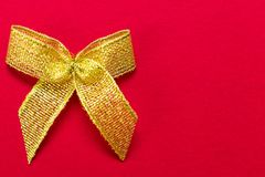 Bow on a red background stock image