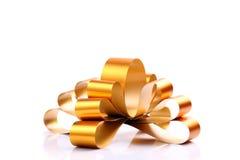 Golden Bow & Ribbon Stock Photo