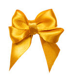 Golden bow, ribbon Royalty Free Stock Photography