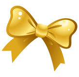Golden bow vector Royalty Free Stock Photography